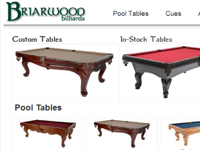 Briarwood Billiards New E-Commerce Site
