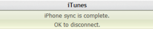 iPhone Sync Complete