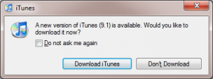 Time to update iTunes