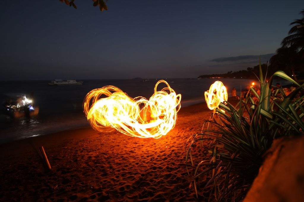 Fire dancing at Atlantis Dumaguete