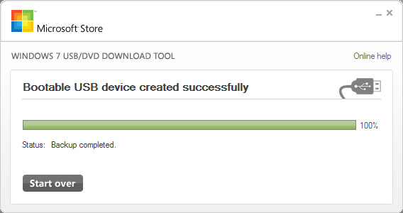 microsoft usb download tool step 3